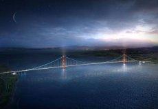 Начато строительство самого длинного подвесного моста в мире.