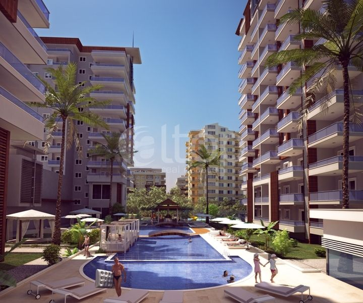 New modern residential complex in alanya luxury real for Modern luxury real estate