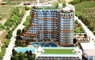 Роскошный комплекс с оригинальным дизайном, большой выбор планировок, Махмутлар