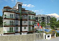 Квартиры на продажу в современном комплексе в Алании возле реки Dimçay, Кестель - 2