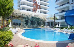 Большие квартиры 2+1 в новом комплексе с бассейном, Авсаллар, Аланья
