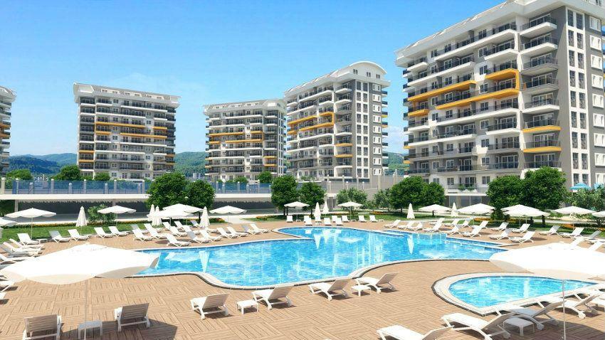 Новый строящийся комплекс концепции отеля 5* Оливковый сад, Авсаллар, Аланья