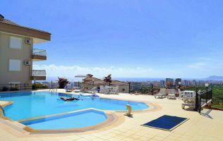 Цена снижена на 3%! Красивый пентхаус 4+1 с видом на море в благоустроенном комплексе в районе Каргыджак, Аланья