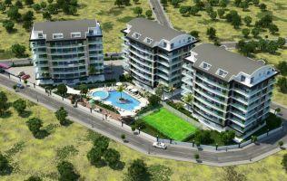 Просторные квартиры в новом шикарном строящемся комплексе, Оба, Аланья