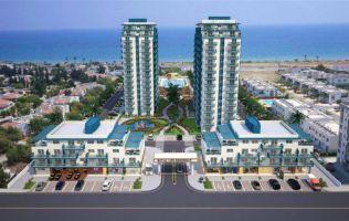 Апартаменты в шикарном строящемся комплексе на первой линии моря, Фамагуста, Северный Кипр.