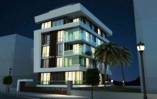 Новый комплекс на стадии строительства в центре Алании, рядом с пляжем Клеопатра