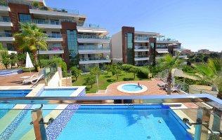 Двухкомнатная квартира в красивом жилом комплексе, Аланья, Джикджилли
