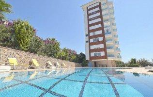 Апартаменты 1+1 в Аланье, с панорамным видом, р-н Тосмур