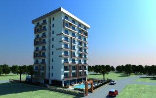 Новый проект на стадии строительства в Аланье/Махмутлар, квартиры 1+1 в рассрочку
