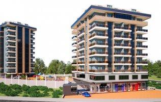 Квартиры в центре Аланьи на стадии строительства