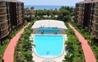 Квартира 3+1 в  комплексе с собственным пляжем, центр Аланьи