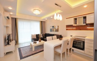 Квартира в аренду в Алании р. Махмутлар в роскошном комплексе в 200 м от моря