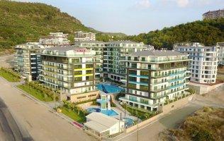 Новая квартира 2+1 в комплексе класса люкс в Алании Каргыджак