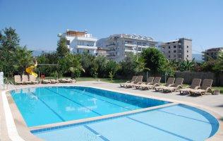 Квартира 2+1  с видом на Средиземное море в Алании Кестель