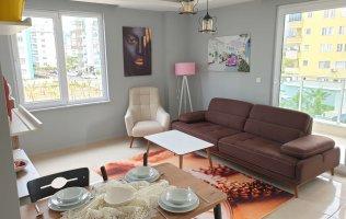Отличное предложение! Меблированная квартира 1+1 с видом на горы по очень низкой цене в Алании, Махмутлар