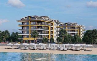 Новый проект на первой линии, квартиры с видом на море в Алании, Кестель