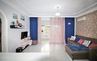 Недорогая меблированная квартира 2+1 с видом на горы в Алании