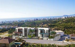 Новый эксклюзивный проект вилл с панорамным видом на Средиземное море в Алании, Каргыджак