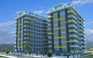 Просторная квартира 2+1 с отдельной кухней и панорамными окнами в центре Аланьи