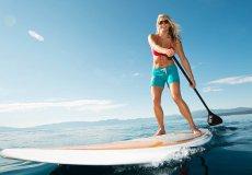 В Аланье становится популярным новый вид спорта – сапсерфинг