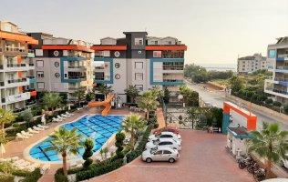 Прекрасная квартира в Алании с видом на Средиземное море в Кестеле
