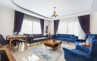 Меблированная квартира в Алании с видом на море и горы район Махмутлар