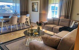 Апартаменты 3+1 в Аланье с шикарным видом на горы, в одном из самых знаменитых комплексов Турции Голд Сити