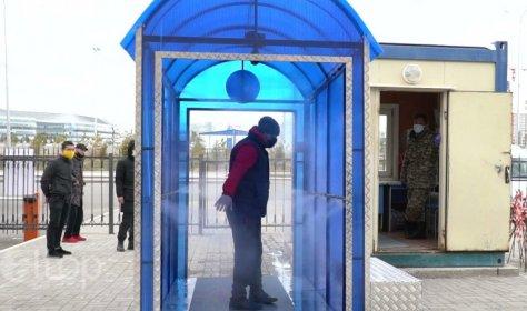 В Аланье установили тоннель для дезинфекции