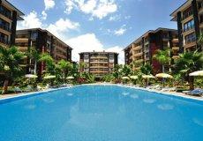 Большая квартира с 2 спальнями в аренду, комплекс на берегу моря, центр Аланьи - 1