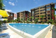 Большая квартира с 2 спальнями в аренду, комплекс на берегу моря, центр Аланьи - 22