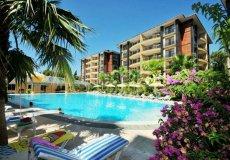 Большая квартира с 2 спальнями в аренду, комплекс на берегу моря, центр Аланьи - 26