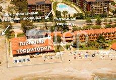 Большая квартира с 2 спальнями в аренду, комплекс на берегу моря, центр Аланьи - 35
