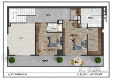 Новый проект комплекса вилл в Бекташ, Алания - 14