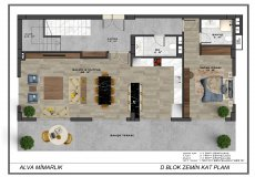 Новый проект комплекса вилл в Бекташ, Алания - 13