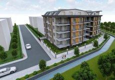 Продажа квартиры 1+1, 46 м2, до моря 600 м в центральном районе, Аланья, Турция № 4413 – фото 2