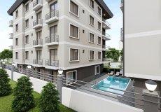 Продажа квартиры 1+1, 46 м2, до моря 600 м в центральном районе, Аланья, Турция № 4413 – фото 6